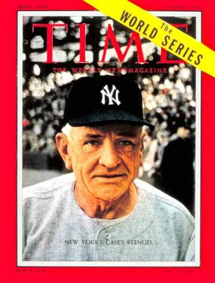 Time - Casey Stengel - Oct. 3, 1955 - Baseball - New York - Sports