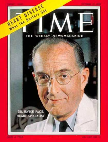 Time - Dr. Irvine H. Page - Oct. 31, 1955 - Chemistry - Medical Research - Health & Med