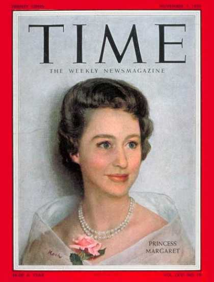 Time - Princess Margaret - Nov. 7, 1955 - Great Britain - Royalty