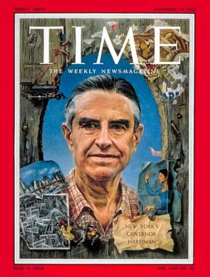Time - W. Averell Harriman - Nov. 14, 1955 - Diplomacy - New York - Politics