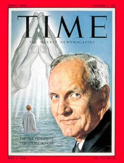 Time - Theodore F. Adams - Dec. 5, 1955 - Religion