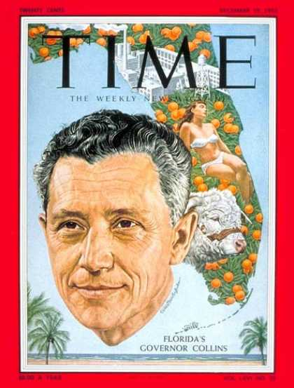 Time - LeRoy Collins - Dec. 19, 1955 - Governors - Florida - Politics