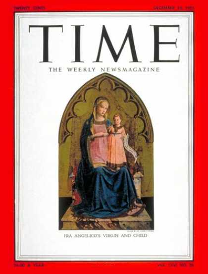 Time - Virgin and Child - Dec. 26, 1955 - Mary - Jesus - Religion - Art - Women - Child