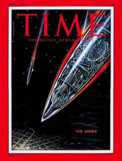 Time - The Missile - Jan. 30, 1956 - Missiles - Cold War - Nuclear Weapons - Weapons