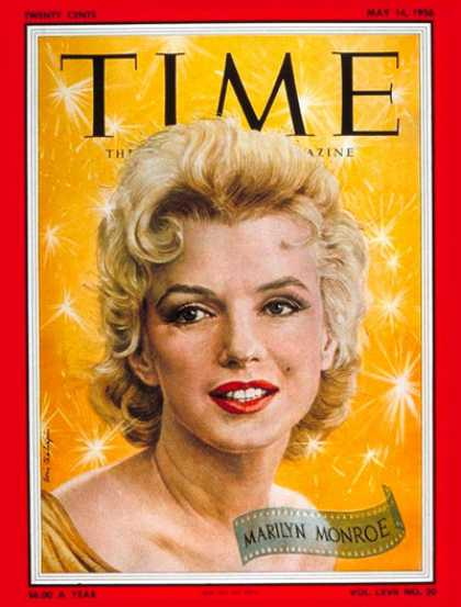 Time - Marilyn Monroe - May 14, 1956 - Actresses - Most Popular - Movies