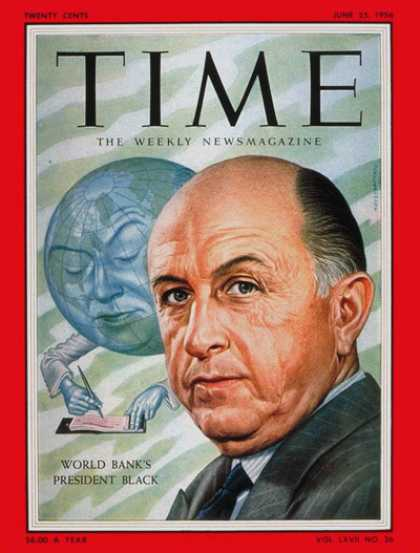 Time - Eugene Black - June 25, 1956 - Economy - Business