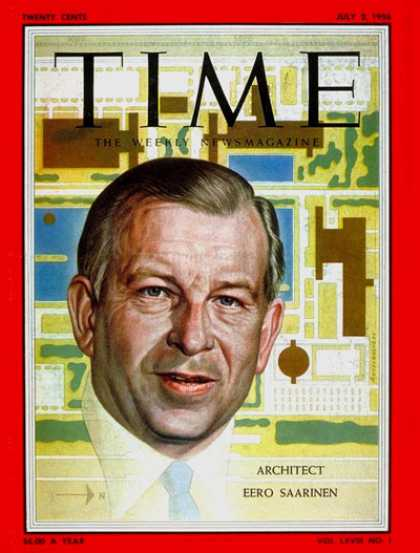 Time - Eero Saarinen - July 2, 1956 - Design - Architecture