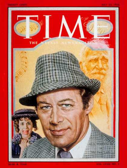 Time - Rex Harrison - July 23, 1956 - Actors - Movies