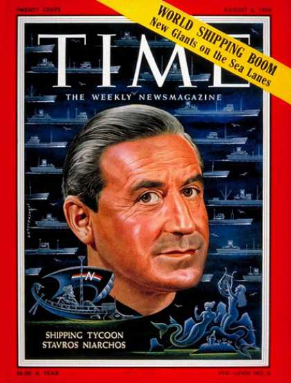 Time - Stavros Niarchos - Aug. 6, 1956 - Ships - Greece - Transportation - Business