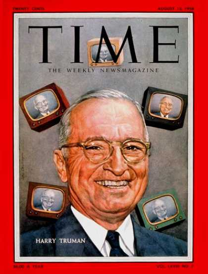 Time - Harry Truman - Aug. 13, 1956 - Harry S. Truman - U.S. Presidents - Politics