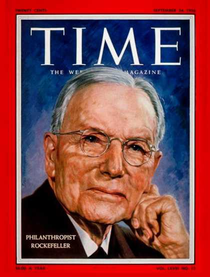 Time - John Rockefeller Jr. - Sep. 24, 1956 - Philanthropy - Business
