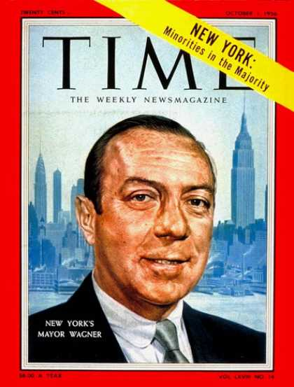 Time - Robert Wagner - Oct. 1, 1956 - Governors - New York - Politics
