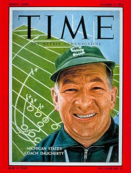 Time - Duffy Daugherty - Oct. 8, 1956 - Football - Sports