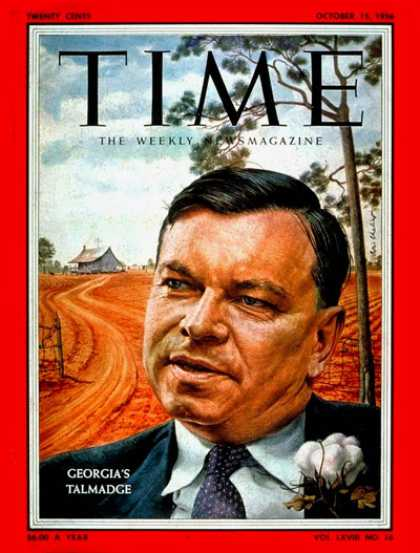 Time - Herman Tamadge - Oct. 15, 1956 - Business