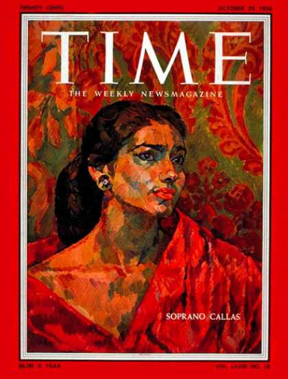 Time - Maria Callas - Oct. 29, 1956 - Opera - Singers - Music