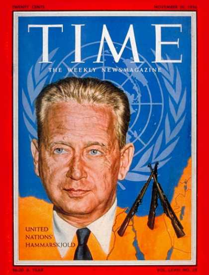 Time - Dag Hammarskjold - Nov. 26, 1956 - United Nations - Sweden