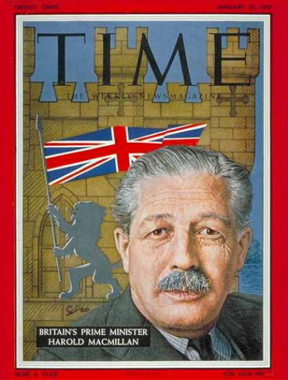 Time - Harold Macmillan - Jan. 21, 1957 - Great Britain - Palestine