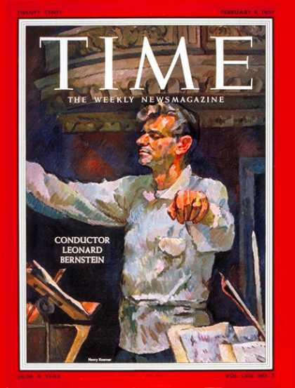 Time - Leonard Bernstein - Feb. 4, 1957 - Conductors - Classical Music - Composers - Mu