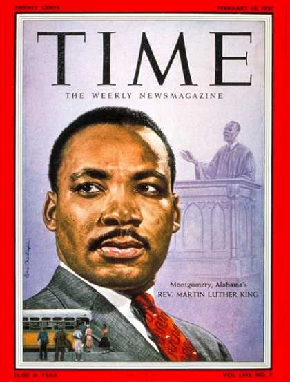 Time - Martin Luther King - Feb. 18, 1957 - Civil Rights - Society - Religion - Most Po