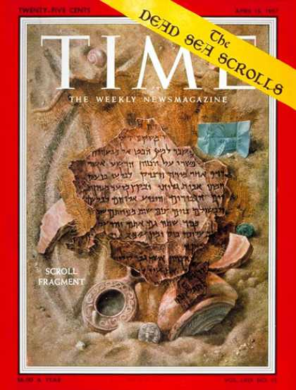 Time - The Dead Sea Scrolls - Apr. 15, 1957 - Israel - Jordan - Religion - Middle East