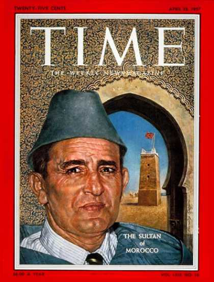 Time - Sultan Mohammed V - Apr. 22, 1957 - Morocco