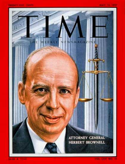 Time - Herbert Brownell Jr. - May 13, 1957 - Herbert Brownell - Politics