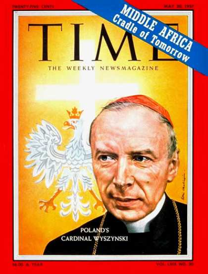 Time - Cardinal Wyszynski - May 20, 1957 - Religion - Christianity - Cardinals