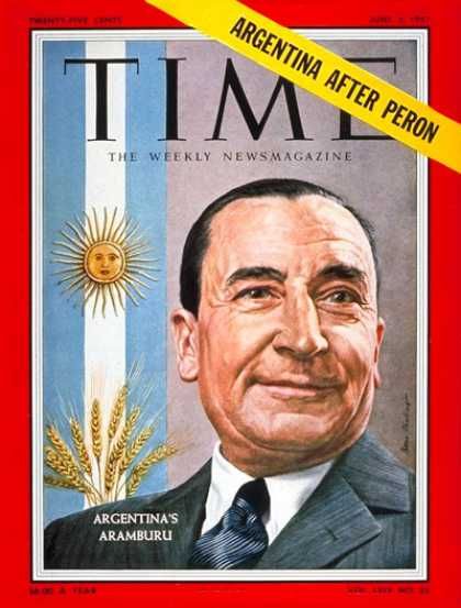 Time - Pedro Aramburu - June 3, 1957 - Argentina - Latin America