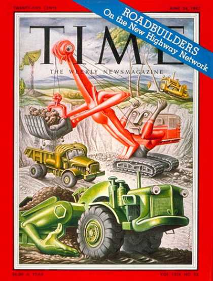 Time - Monster Machines - June 24, 1957 - Machines - Transportation