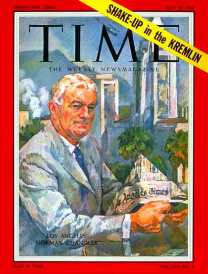 Time - Norman Chandler - July 15, 1957 - Journalism - Media