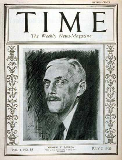 Time - Andrew W. Mellon - July 2, 1923 - Philanthropy - Business