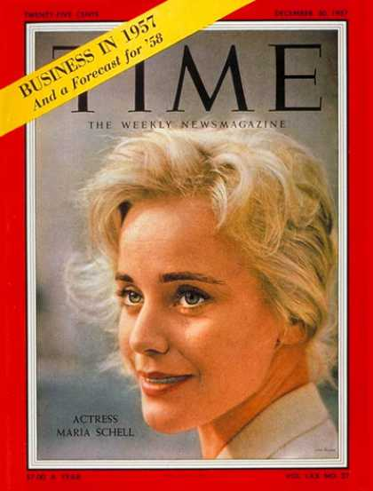 Time - Maria Schell - Dec. 30, 1957 - Actresses - Movies