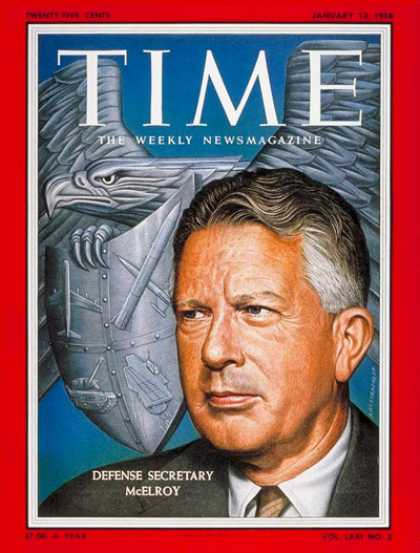 Time - Neil McElroy - Jan. 13, 1958 - Military - Politics