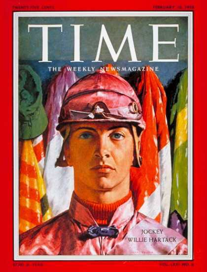 Time - Willie Hartack - Feb. 10, 1958 - Horse Racing - Sports