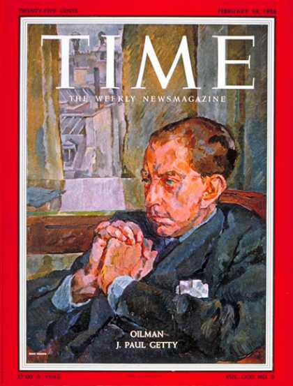 Time - J. Paul Getty - Feb. 24, 1958 - Oil - Energy - Business