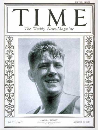 Time - James J. Tunney - Aug. 30, 1926 - Boxing - Sports