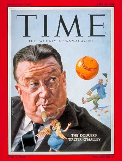 Time - Walter O'Malley - Apr. 28, 1958 - Baseball - Sports