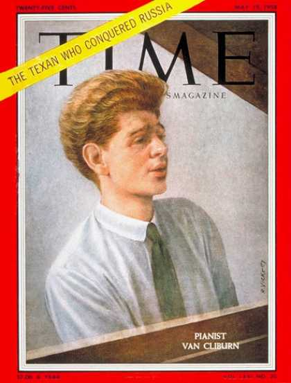 Time - Van Cliburn - May 19, 1958 - Pianists - Classical Music - Music