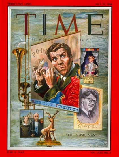 Time - Robert Preston - July 21, 1958 - Theater - Actors - Broadway - Music