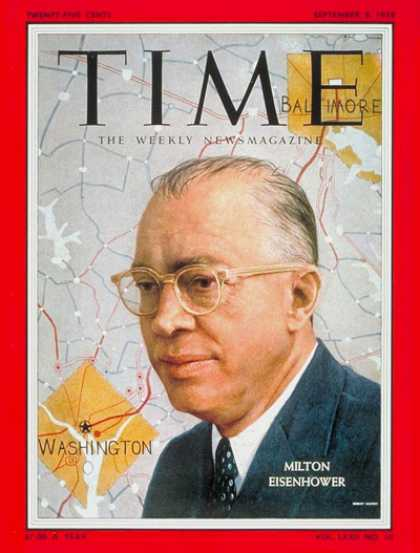 Time - Milton Eisenhower - Sep. 8, 1958 - Politics