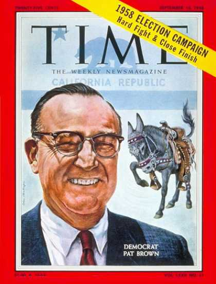 Time - Edmund Brown - Sep. 15, 1958 - Politics