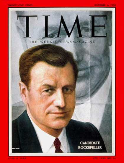 Time - Nelson Rockefeller - Oct. 6, 1958 - Governors - New York - Politics