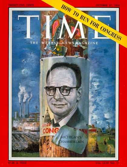 Time - Charles Chamberlain - Oct. 27, 1958 - Politics