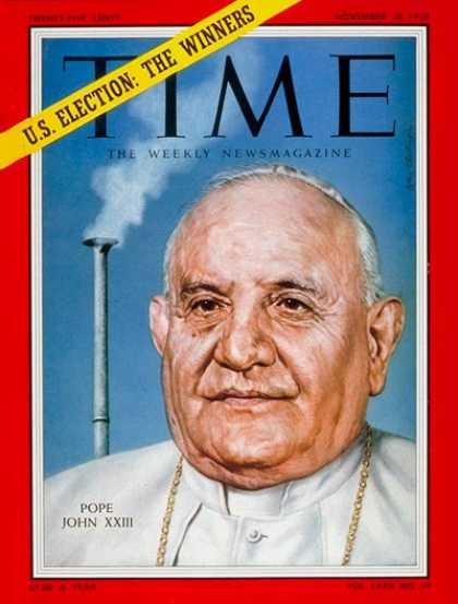Time - Pope John Paul XXIII - Nov. 10, 1958 - Religion - Christianity - Popes - Catholi