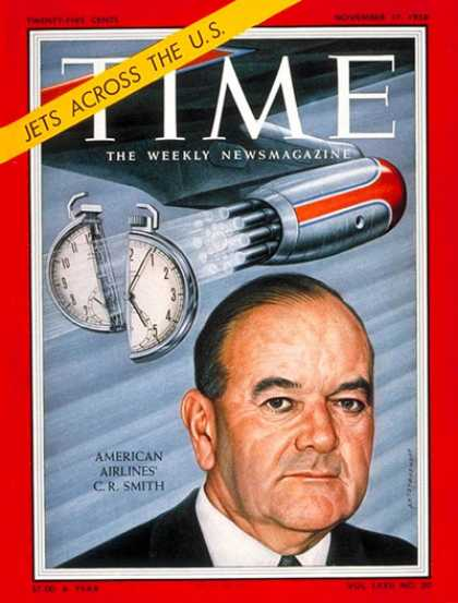 Time - C.R. Smith - Nov. 17, 1958 - Aviation - American Airlines - Business
