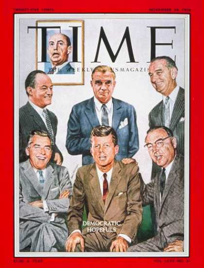 Time - Democratic Hopefuls - Nov. 24, 1958 - John F. Kennedy - Hubert Humphrey - Lyndon