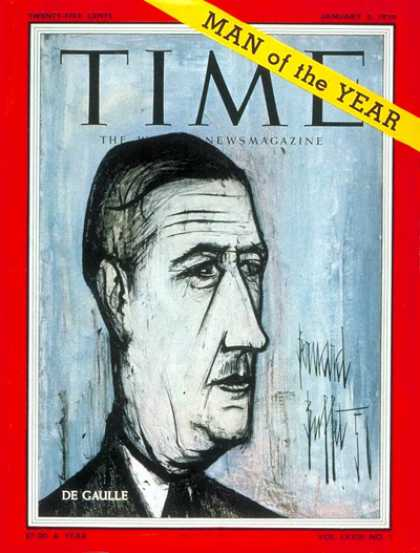 Time - Charles DeGaulle, Man of the Year - Jan. 5, 1959 - Charles DeGaulle - Person of