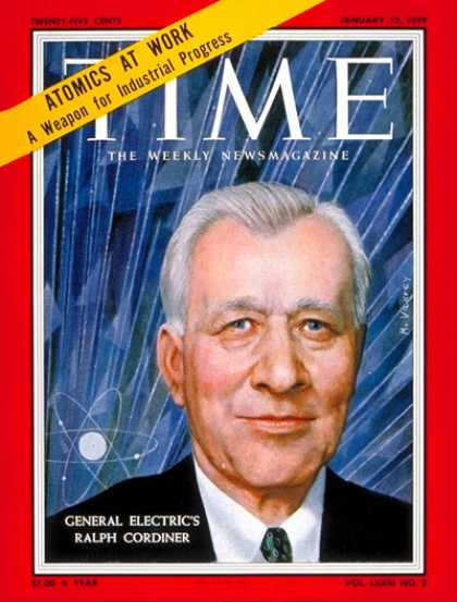 Time - Ralph J. Cordiner - Jan. 12, 1959 - General Electric - Business - Science & Tech