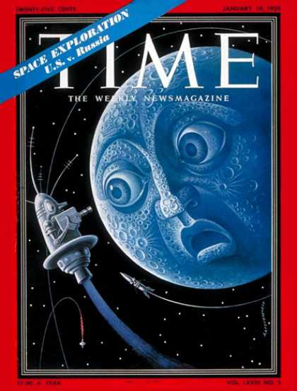 Time - Space Exploration - Jan. 19, 1959 - NASA - Satellites - Moon