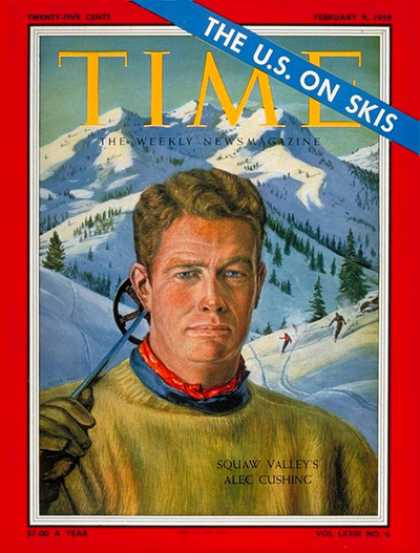 Time - Alec Cushing - Feb. 9, 1959 - Skiing - Sports